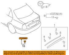 MAZDA OEM 99-03 Protege Trunk Lid-Emblem Badge Nameplate BJ0E51720A