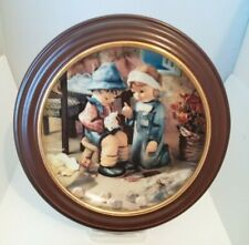 """Hummel Little Companions 8"""" Collector Plate W Frame/Orig Box-Tender Loving Care"""