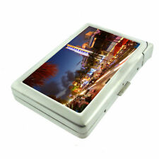 Florida South Beach Miami D8 Cigarette Case with Built in Lighter Metal Wallet