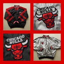 Vintage CHICAGO BULLS JACKET LARGE 90s REVERSIBLE Silver/Jordan/Era 2in1 logo