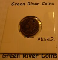 1862  CN   Indian Head Penny Cent  Coin  #MQ62 holed cull