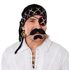 Deluxe Pirate Skull & Crossbones Bandana Mens Fancy Dress Caribbean One Size