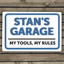 Personalised Garage Plaque Sign - Unique Gift For Him Birthday