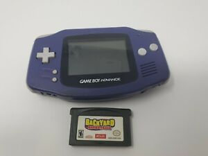Indigo Purple Nintendo Game Boy Advance Lot with Game AGB-001 - TESTED