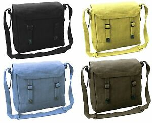 BRAND NEW CANVAS SHOULDER VINTAGE STYLE HAVERSACK SATCHEL BAG