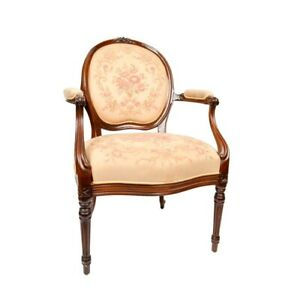 2 Louis XVI Chairs Mahogany Fauteuil (2 in set)  FREE SHIPPING