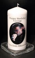 George Micheal  Birthday candle with your own special  message for the Fan