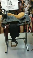 "15"" Black American Made Leather Saddle"
