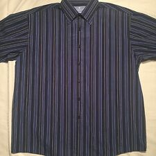 Kenneth Cole Reaction Button Down Striped Long Sleeve Polo Shirt Sz: 16.5 32-33