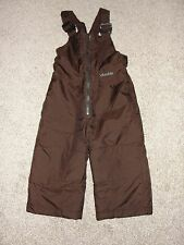 Looks New Boys Columbia Snow Bib Sz 2T Brown Solid Ski Snow Bib