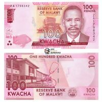 Malawi 100 Kwacha 2017 Replacement P-65cr Banknotes UNC Scarce