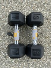 20 lb Dumbbell Pair CAP Hex Rubber 20lb Set - Total Weight 40lbs - FREE SHIPPING