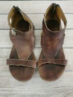 Bedstu Soto Sandals Brown Leather Gladiator Womens Size 9