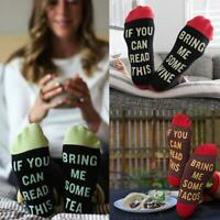 Lustige Sock If You Can Read This Bring Me A Glass Of Wine Wine Socks D3F4