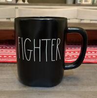 Rae Dunn By Magenta - LL FIGHTER - Black Ceramic Coffee Mug