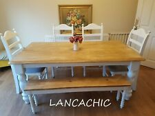 Exquisite Bespoke 6ft  Table And  4 Chair/Bench Set - Nationwide Delivery