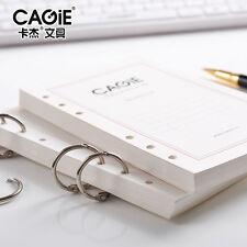 A5 Diary Notebook Insert Refill Organiser Note Paper Plan Calendar 80 Sheets