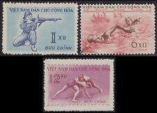 VIETNAM du NORD N°172/174** Sport Tir lutte..1959, North Vietnam Sc# 102-104 MNH