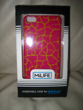 HARDSHELL CASE FOR IPOD TOUCH 5TH GENERATION - BRIGHT PINK W' GOLD ACCENTS - NWT