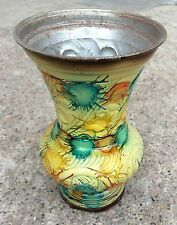 VINTAGE HAND CRAFTED & HAND PAINTED FLOWER DECORATIVE VASE