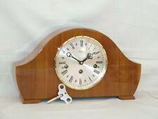 Bentima Hermle 8 Day German Walnut Westminster Napoleon Style Mantel Chime Clock