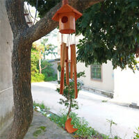 Classic Birdhouse Wind Chime - Bamboo Wooden Outdoor Medium&Relaxation