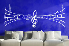 Sticker Mural Notes de Musique 3D Clef Feuille Autocollants Déco W026