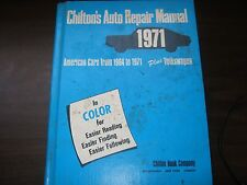 CHILTONS AUTO REPAIR MANUAL IN COLOR AMERICAN CARS AND VOLKSWAGEN 1964-1971