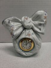 Lladro Porcelain Floral Bow Clock No 5970 Hand Made in Spain Beautiful Timepiece