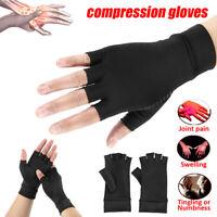 Paire compression doigt soulagement douleur soutien main gants anti-arthrite