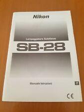 Manuale d'uso/Instruction Manual/Mode D'Emploi/Manuel D'Utilisation NIKON SB-28