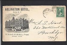 "ROME, NEW YORK,1888,#213, ILLUSTRATED ADVT COVER,  ""ARLINGTON HOTEL"" BUELL, PROP"