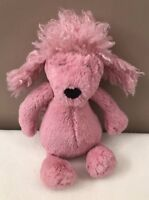 Jellycat Small Bashful Pink Poodle Puppy Dog Baby Soft Toy Comforter Retired