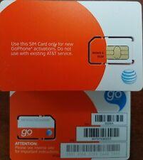 New At&T Prepaid Go Phone 3G Sim Card Ready Activate,