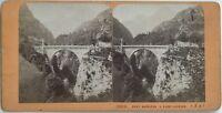 Pont Napoleone Luz-Saint-Sauveur Foto Jean Andrieu Stereo Vintage Albumina