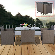3tlg Gartenmöbel Polyrattan Lounge Set Sitzgruppe Rattanmöbel Garnitur Gartenset