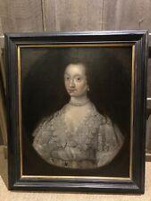 17th Century English Portrait Of A lady Circle Of Cornelius Johnson