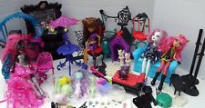 Monster High Doll Furniture Cafe Clawdeen Wolf Catty Noir Howleen Catrine Cat +