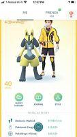 Pokemon Account Go Level 40! 398x R Shiny! 231x Legendary! 4.3M+ SD! 89x 3 ATK!