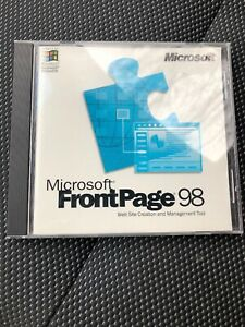 Microsoft FrontPage 98 Upgrade Website Creation Management Tool CD w/Product Key