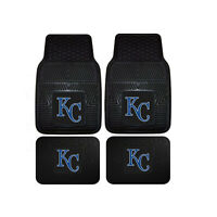 New MLB Kansas City Royals Car Truck Front Back Rubber All Weather Floor Mats