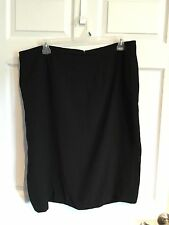 Liz Claiborne Woman's Size 22 Black  Skirt Fully Lined Zips In Back -
