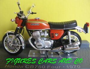 MOTO CLASSIQUE 1/24 HONDA CB 750 FOUR 1970 MOTORRAD NEUF BOITE