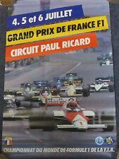 ORIGINALE Ffsa FIA FRENCH GRAND PRIX poster 1986-GRAND PRIX DE FRANCE 1986