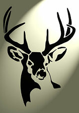 Shabby Chic Plastic Stencil Stag deer head Vintage A4 297x210mm wall Design 4