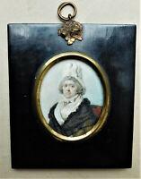 NO RESERVE c1810 Portrait Miniature of a Lady Vintage Antique