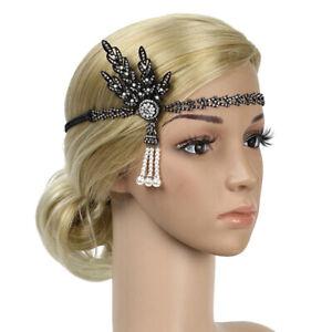 Vintage 20er Jahre  Great Stirnband Pearl Charleston Hochzeit Kopfschmuck