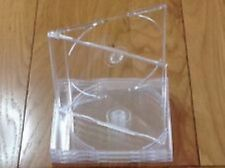25 x Maxi Single CD Jewel Case 6mm Slim Clear Tray New Replacement J CARD Type