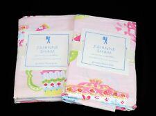 (x 2) Pottery Barn Kids PBK Julianne Bed Sham Standard Pillow Case Teapot Party