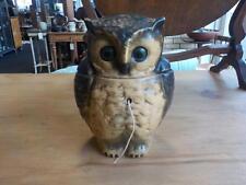 Antique / Vintage  Novelty Pottery Owl String Holder C1900